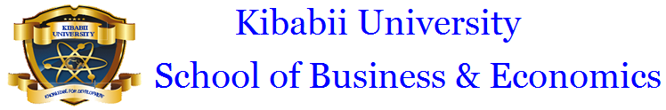 Kibabii University School of Business and Economics