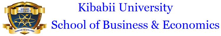 Kibabii University School of Business and Economics